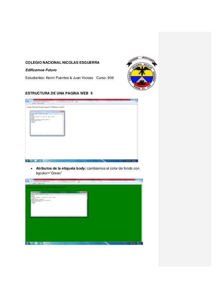 Estructura de una pagina web  ii