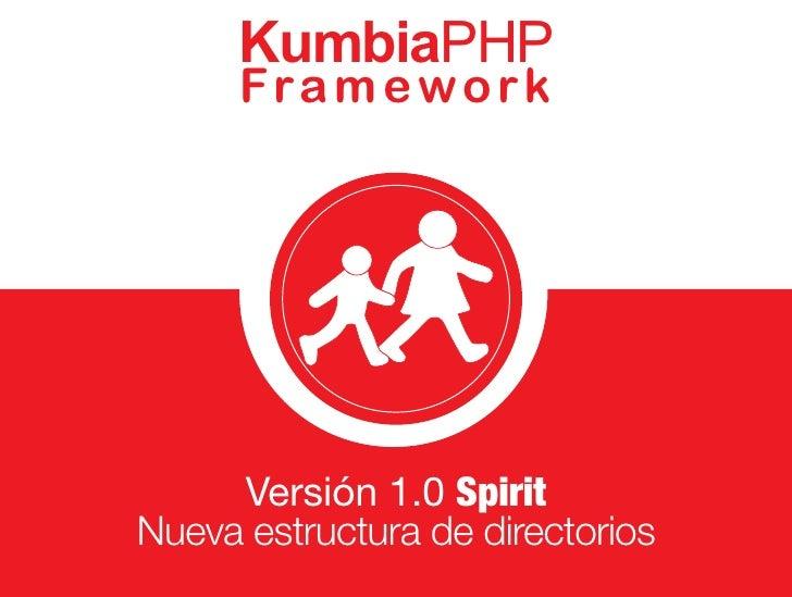 KumbiaPHP       Fra m e w o rk          Versión 1.0 Spirit Nueva estructura de directorios