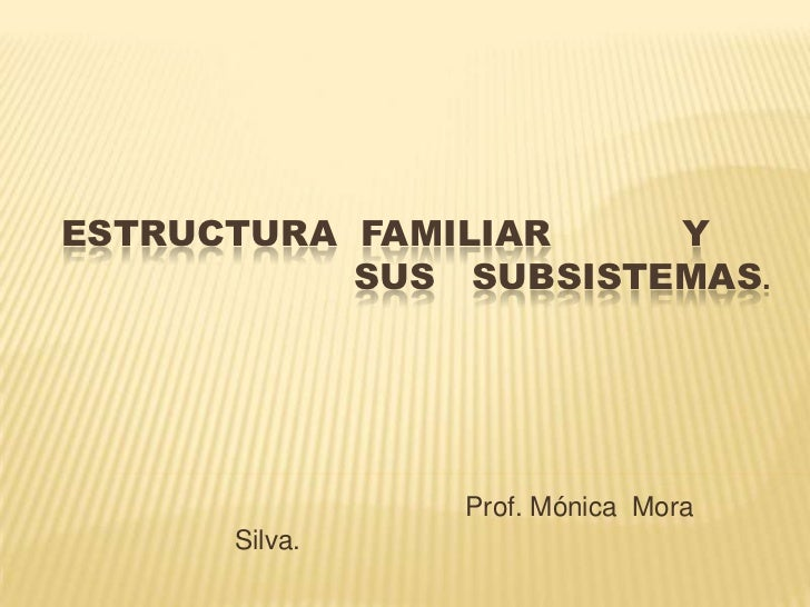 Estructura familiar