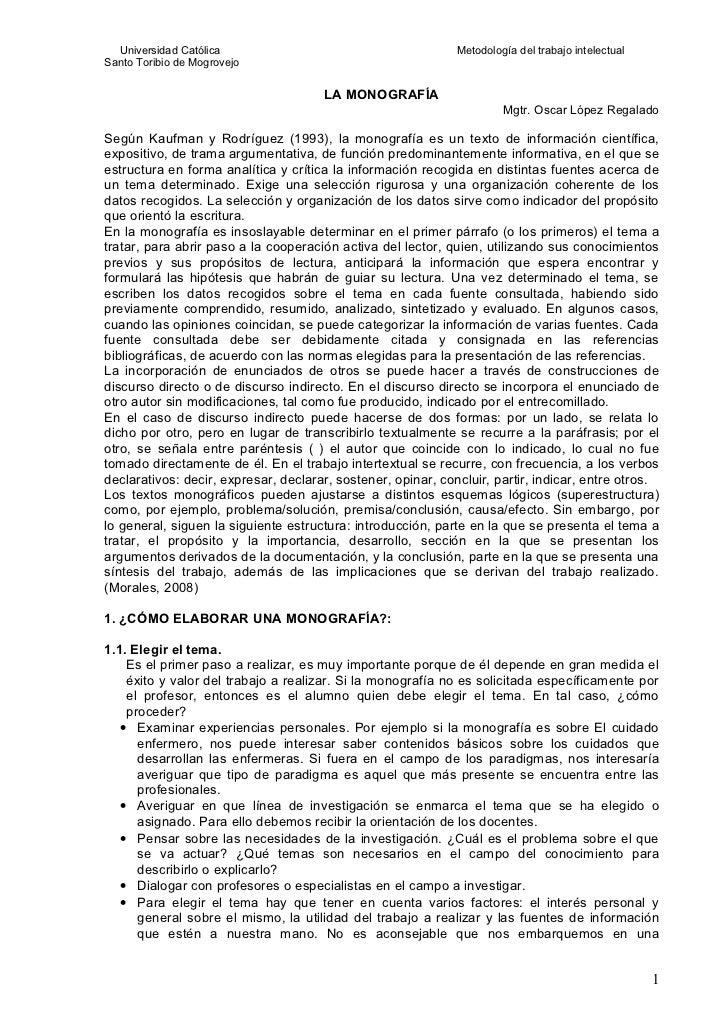 Estructura Formal De La MonografíA