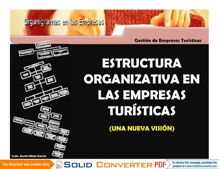 Gestión de Empresas Turísticas                                  ESTRUCTURA                            ORGANIZATIVA EN     ...