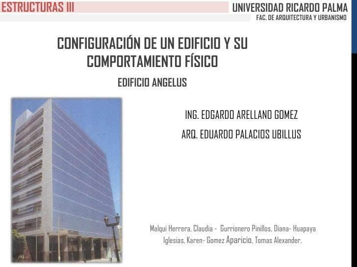 ESTRUCTURAS III                                           UNIVERSIDAD RICARDO PALMA                                       ...