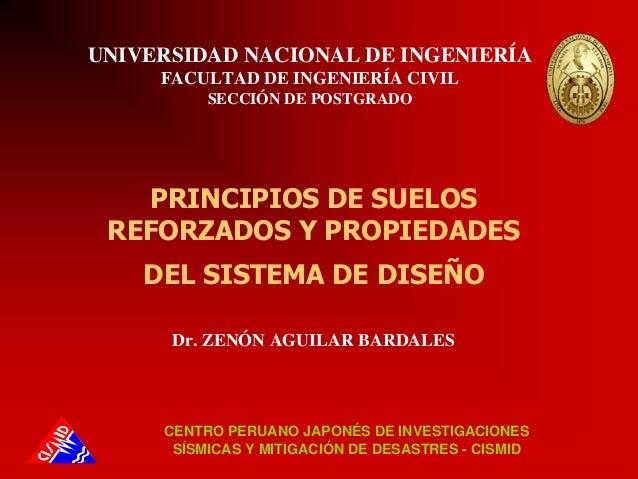 UNIVERSIDAD NACIONAL DE INGENIERÍAFACULTAD DE INGENIERÍA CIVILSECCIÓN DE POSTGRADODr. ZENÓN AGUILAR BARDALESCENTRO PERUANO...