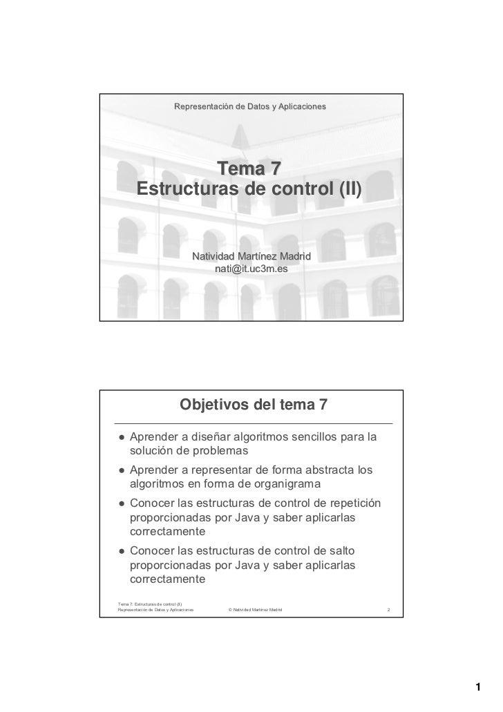Representación de Datos y Aplicaciones                            Representació                 Tema 7        Estructuras ...