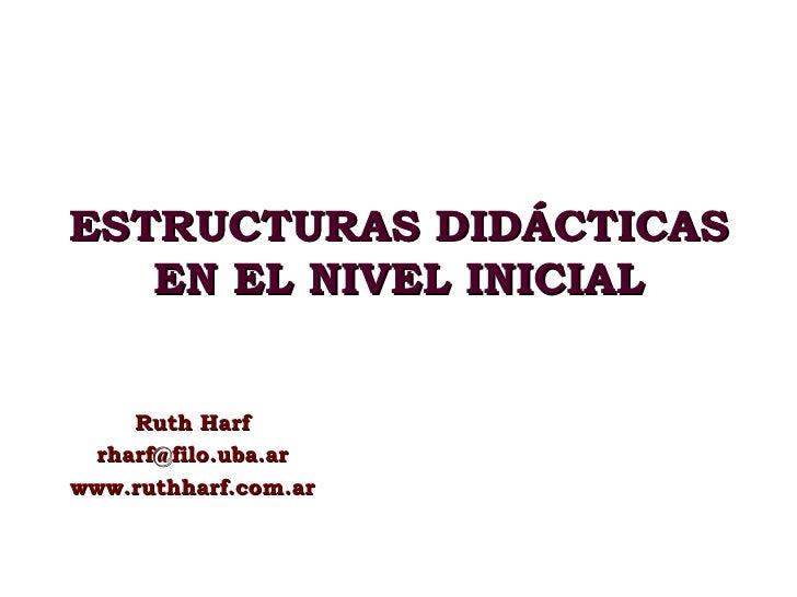 Estructuras didácticas en el nivel inicial