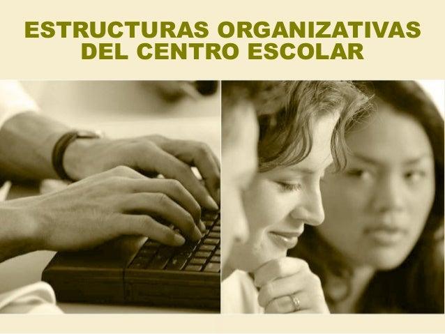 ESTRUCTURAS ORGANIZATIVAS DEL CENTRO ESCOLAR