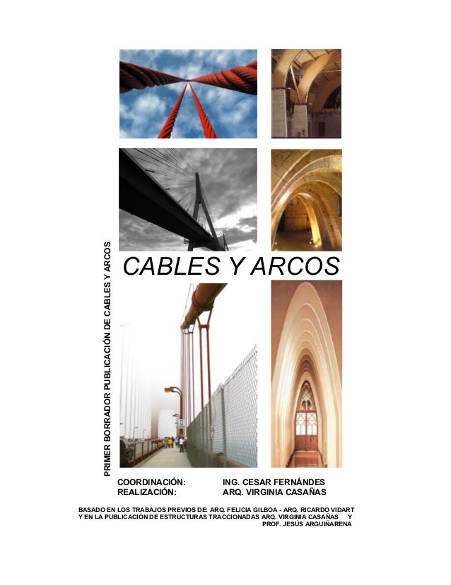 PRIMERBORRADORPUBLICACIÓNDECABLESYARCOS CABLES Y ARCOS COORDINACIÓN: ING. CESAR FERNÁNDES REALIZACIÓN: ARQ. VIRGINIA CASAÑ...