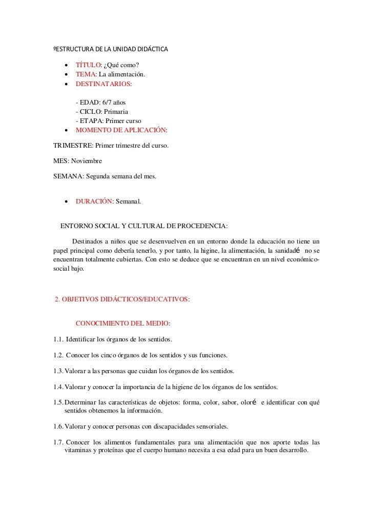 Estructura unidad didáctica