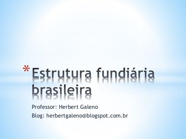 Professor: Herbert Galeno  Blog: herbertgaleno@blogspot.com.br  *