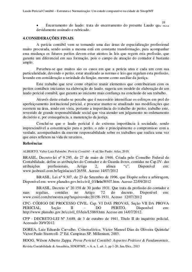 Estrutura laudo pericial revista amazonia