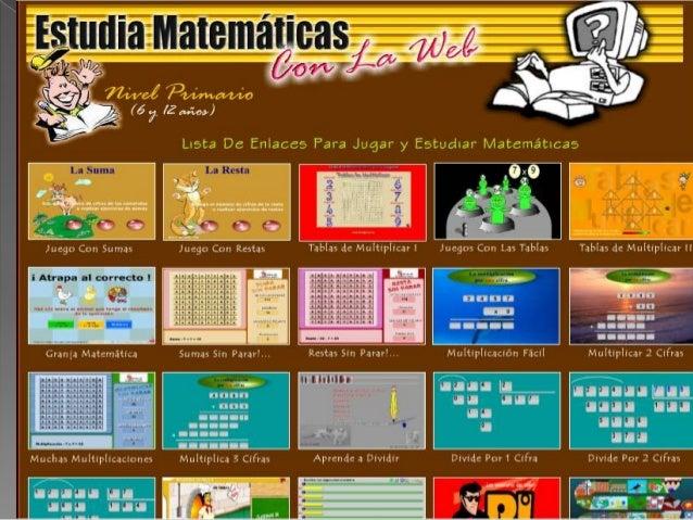  Es una pagina educativa donde al estarjugando a prenderas operacionesbásicas de matemáticas es un sitio idealpara niños ...