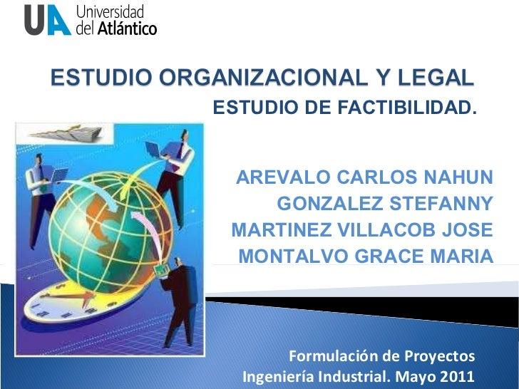 Estudio Organizacional y Legal para un Estudio de Factibilidad