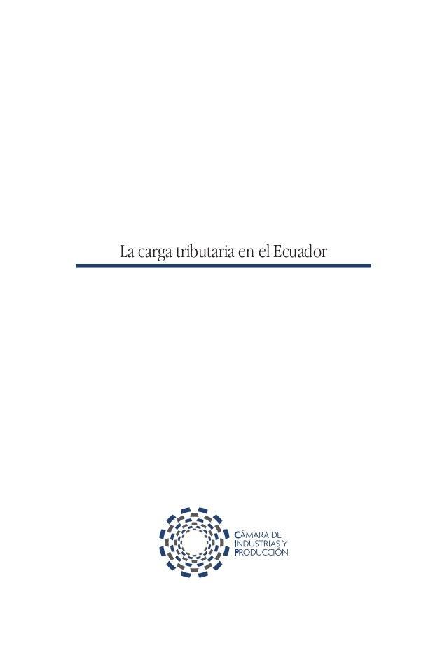 La carga tributaria en el Ecuador