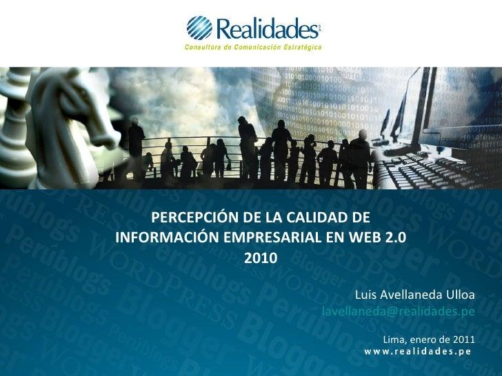 Rumorología en la web 2.0