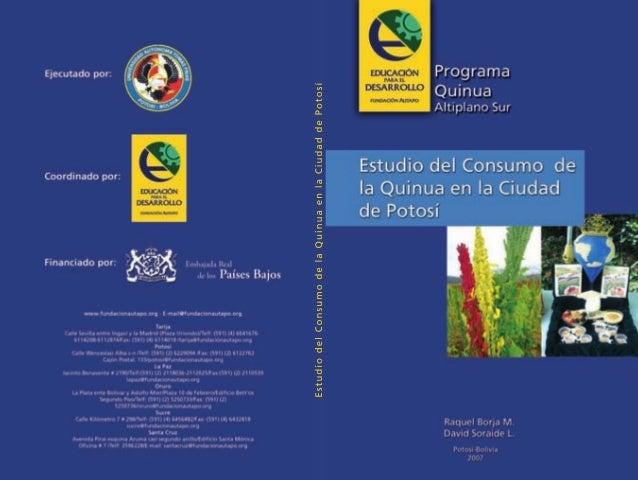 Estudio del Consumo de la Quinua en la Ciudad de Potosí