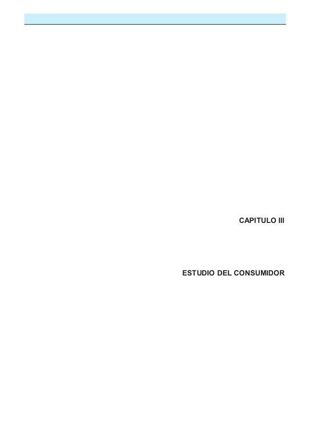 CAPITULO III  ESTUDIO DEL CONSUMIDOR