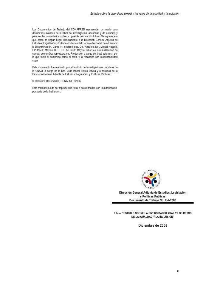 Estudio Diversidad Sexual UNAM-CONAPRED