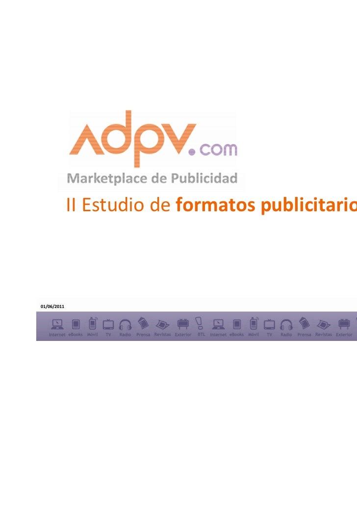 II Estudio de formatos publicitarios display01/06/2011