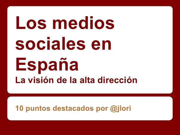 Los medios sociales en España