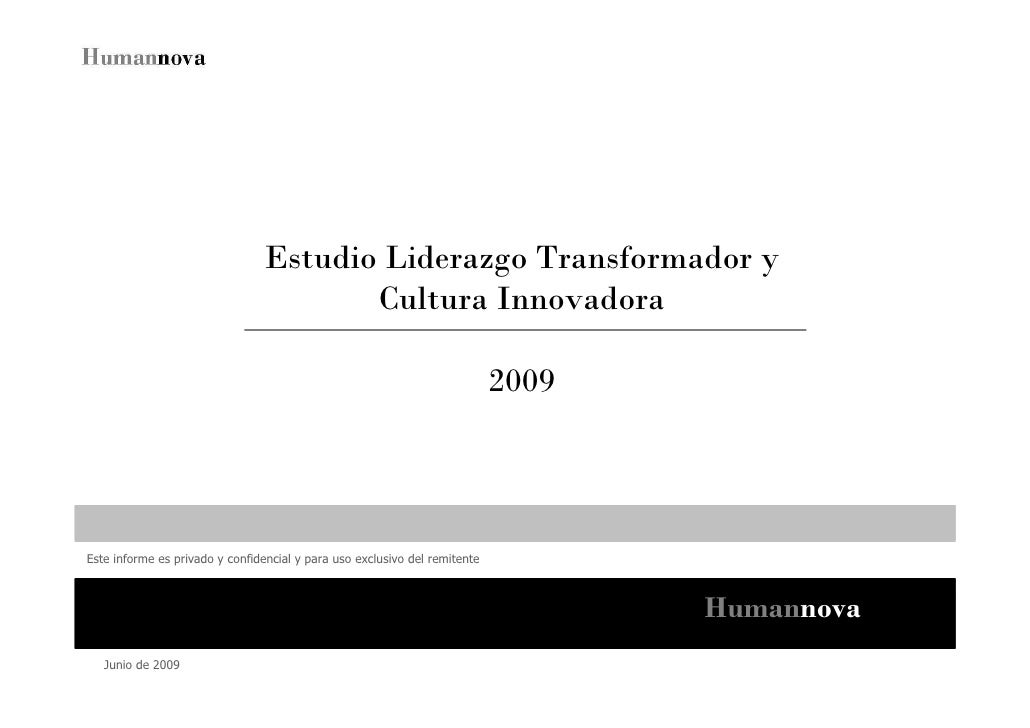 Estudio Liderazgo Transformador y                                         Cultura Innovadora                              ...