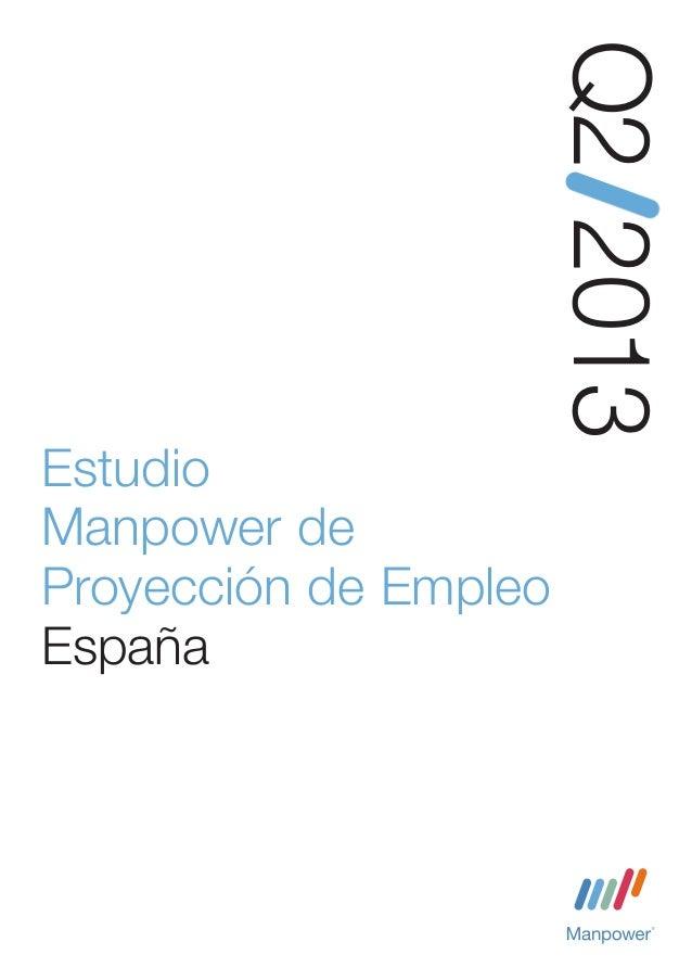 Q2 2013EstudioManpower deProyección de EmpleoEspañaEstudio de investigación de Manpower