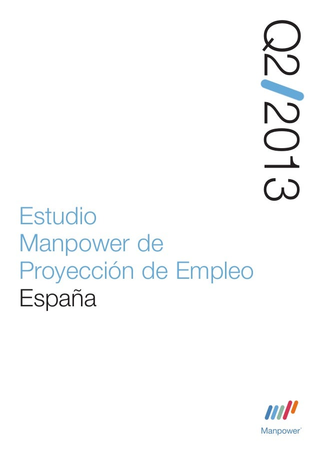 Estudio manpower proyeccion empleo 2013