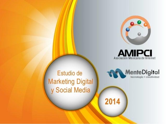 Estudio de  Marketing Digital  y Social Media  2014