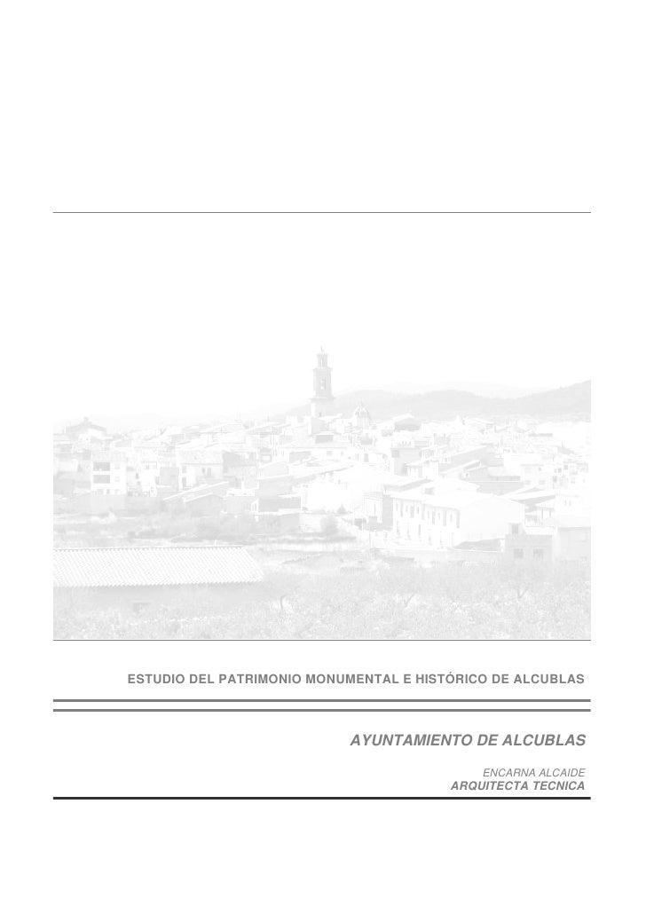Estudio Patrimonio Alcublas