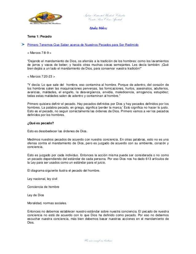 Un señor una fe un bautismo Iglesia Pentecostal Unida de Colombia Cuarta Bario Obrero Apartadó Estudios Bíblicos Tema 1: P...