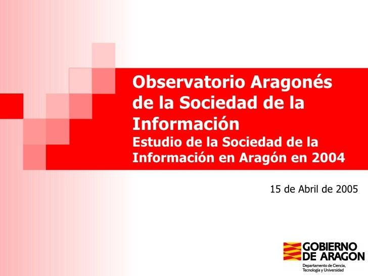 Estudios Observatorio Aragones