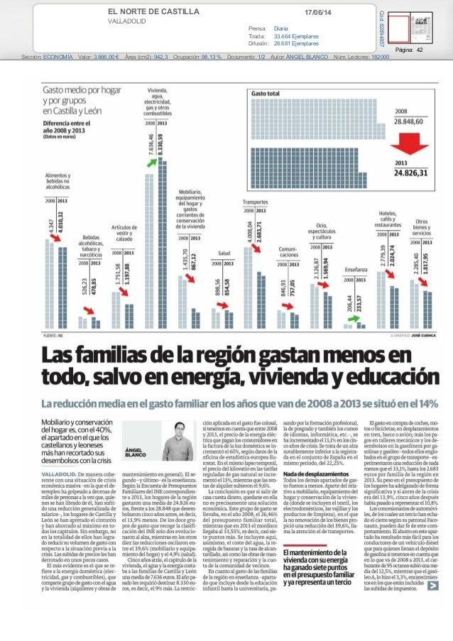 17/06/14EL NORTE DE CASTILLA VALLADOLID Prensa: Diaria Tirada: 33.464 Ejemplares Difusión: 28.681 Ejemplares Página: 42 Se...