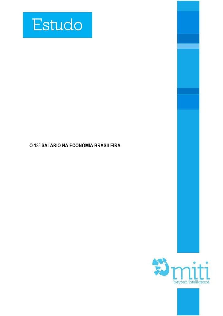 Estudo: O 13° salário na Economia Brasileira