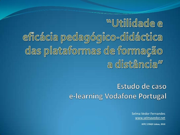 Estudo acao elearning_vodafone_final