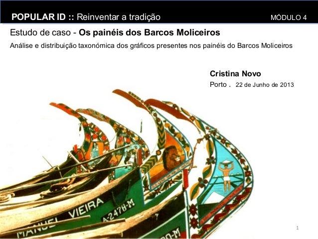 Estudo de caso - Os painéis dos Barcos MoliceirosPOPULAR ID :: Reinventar a tradição MÓDULO 4POPULAR ID :: Reinventar a tr...