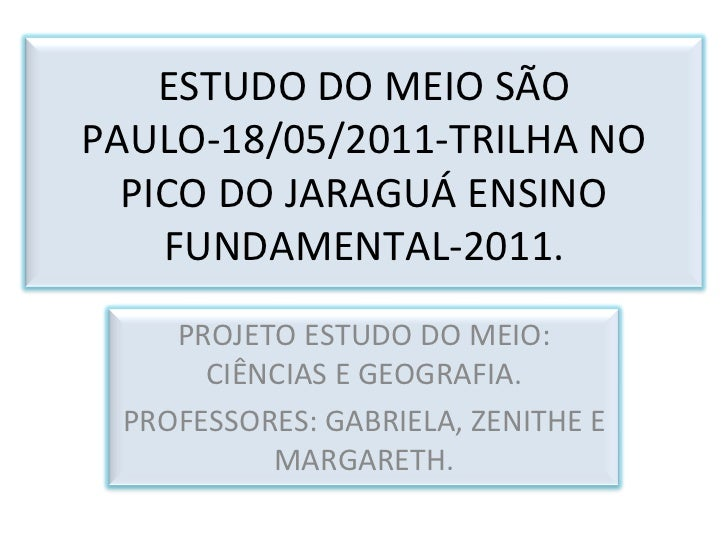Estudo do meio São Paulo 18