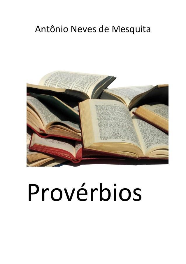 Antônio Neves de Mesquita Provérbios