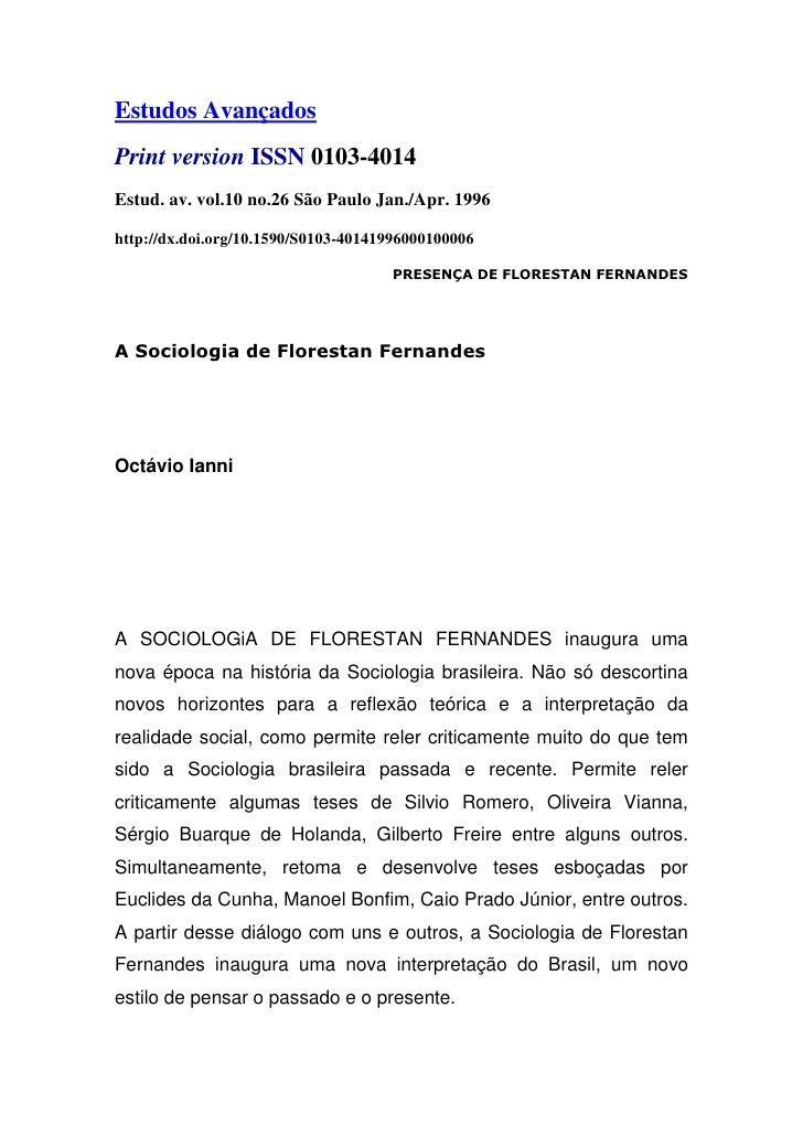Estudos AvançadosPrint version ISSN 0103-4014Estud. av. vol.10 no.26 São Paulo Jan./Apr. 1996http://dx.doi.org/10.1590/S01...