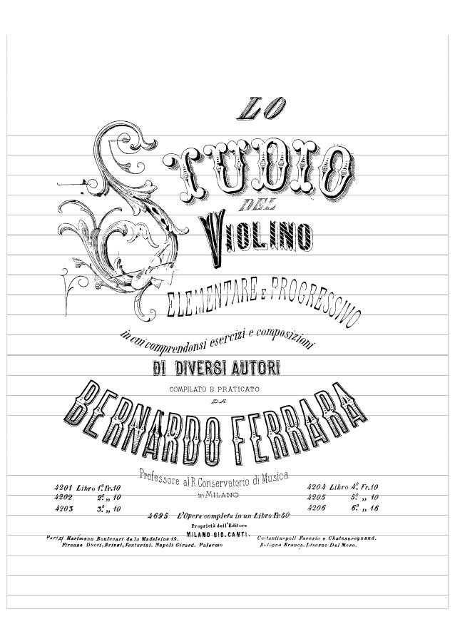 Violin Studies - Ferrara (complete)
