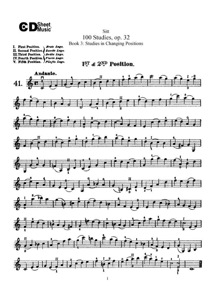 Estudos livro iii op.32   sitt  (www.sheetmusic-violin.blogspot.com)