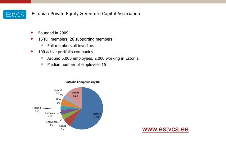 Estonian Private Equity & Venture Capital Association    •   Founded in 2009 •   16 full members, 26 supporting members   ...