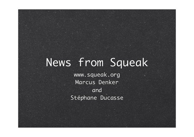 News from Squeak