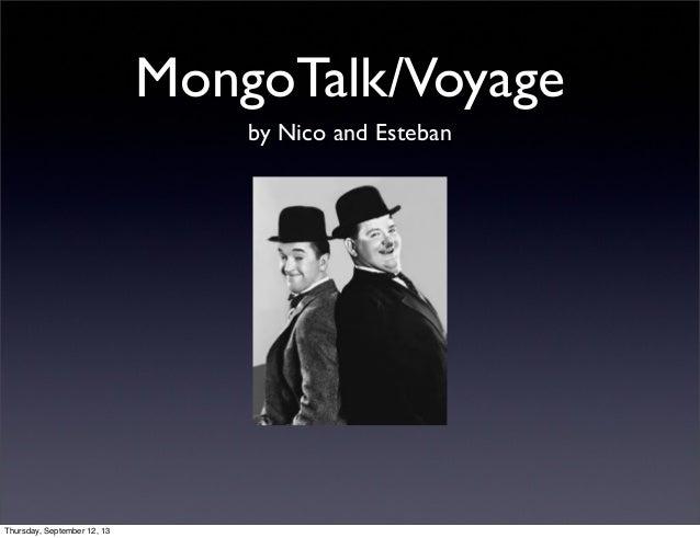 MongoTalk/Voyage