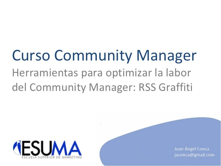 Manual RSS Graffiti - ESUMA Community Manager