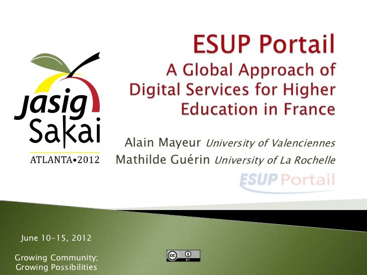 ESUP-Portail: A Global Approach of Digital Services for Higher Education in France