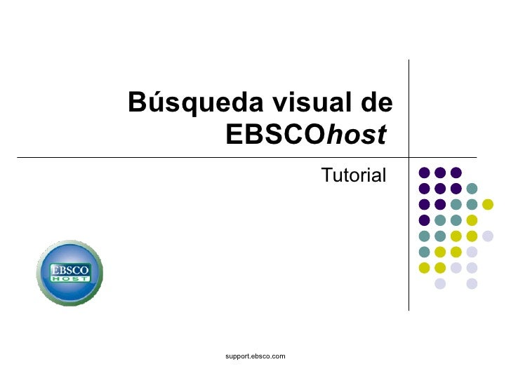 Búsqueda Visual de Ebsco host
