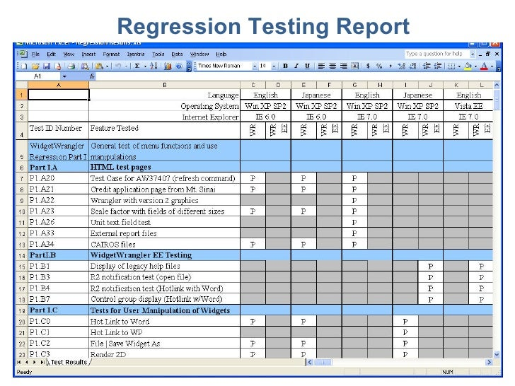Test Plan Excel Template