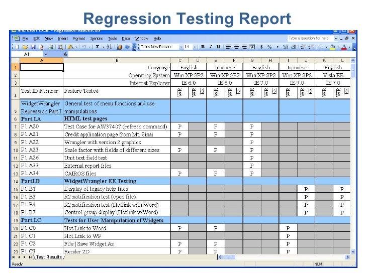 Essential Software Inc Regression Testing