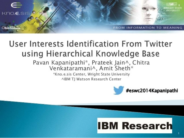 User Interests Identification From Twitter using Hierarchical Knowledge Base