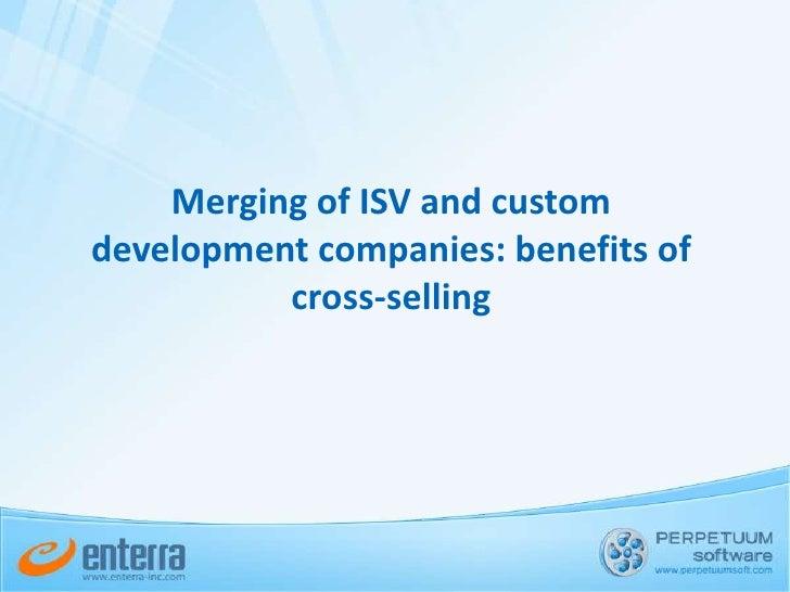 Merging of ISV and custom development companies: benefits of cross-selling<br />