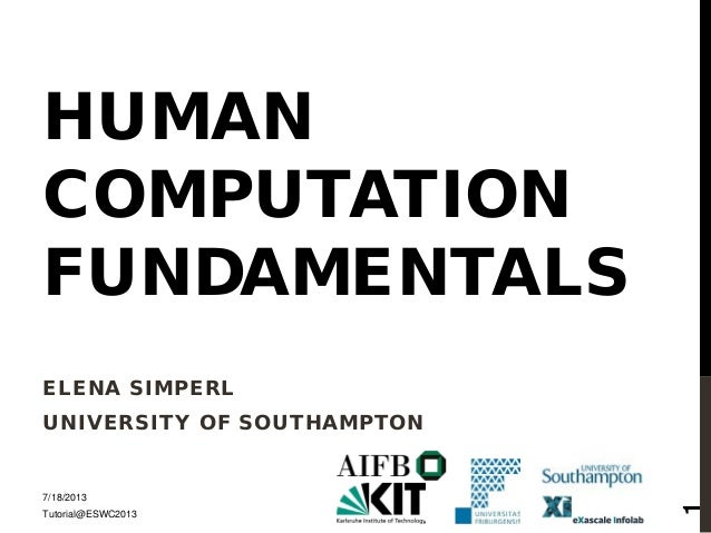 Fundamentals of human computation